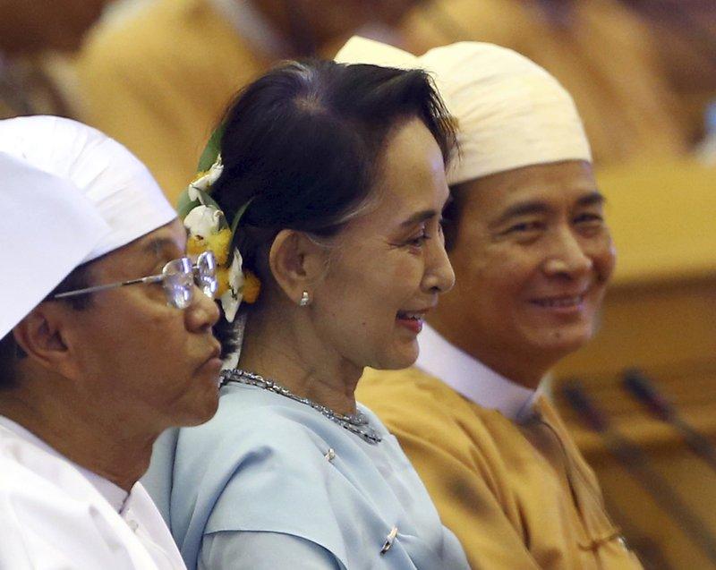 Aung San Suu Kyi, Win Myint, Myint Swe