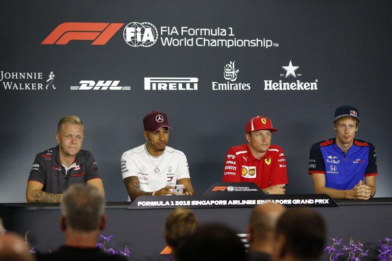 Kevin Magnussen, Lewis Hamilton, Kimi Raikkonen, Brendon Hartley