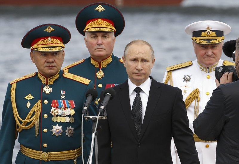 Vladimir Putin, Sergei Shoigu, Vladimir Korolev, Andrei Kartapolov