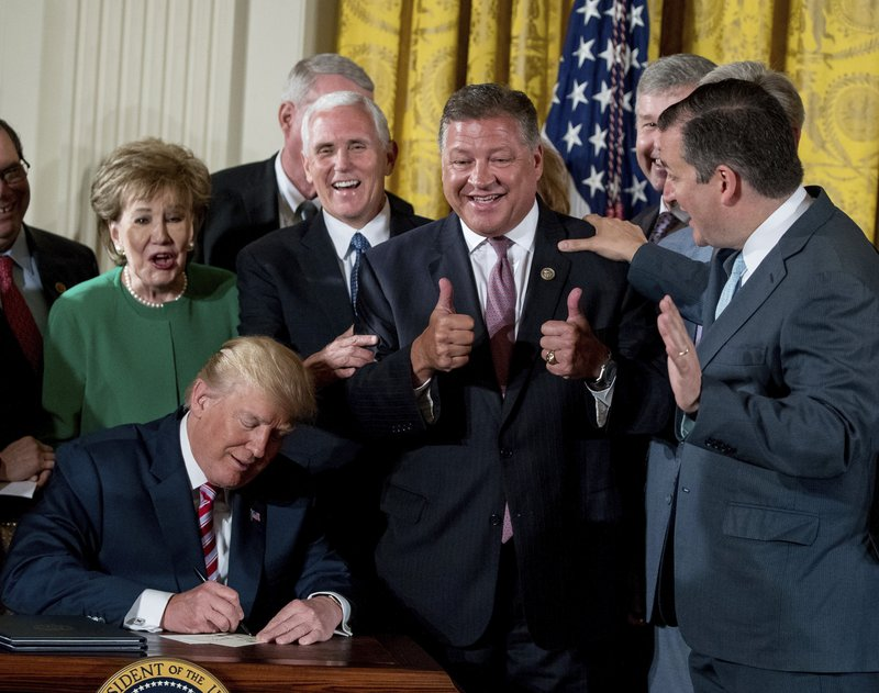 Donald Trump, Elizabeth Dole, Mike Pence, Ted Cruz