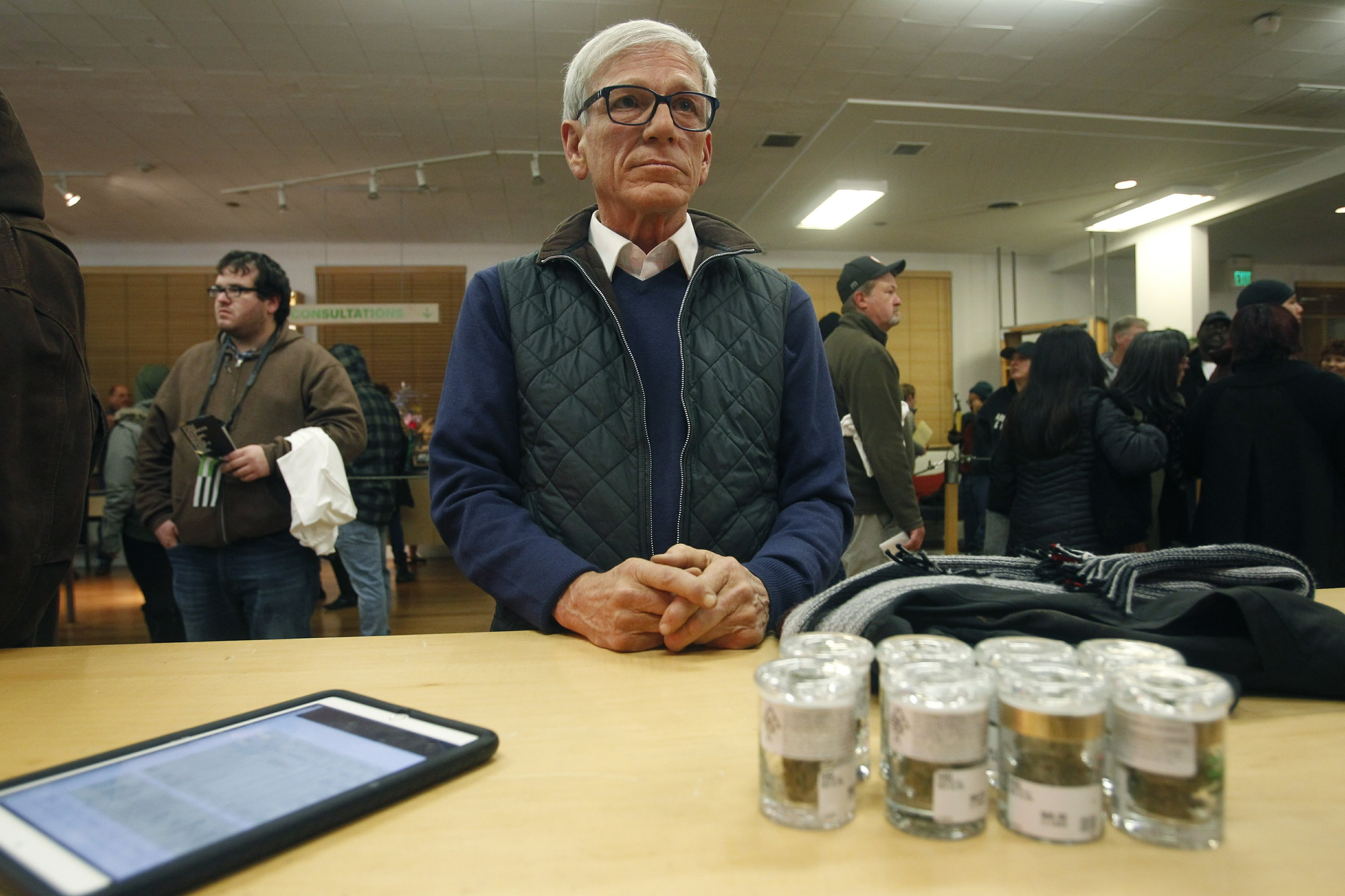 The Latest: 40-minute wait for newly legal California pot
