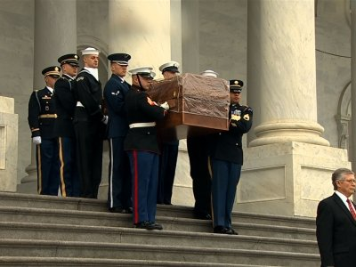 Billy Graham's Casket Carried from US Capitol