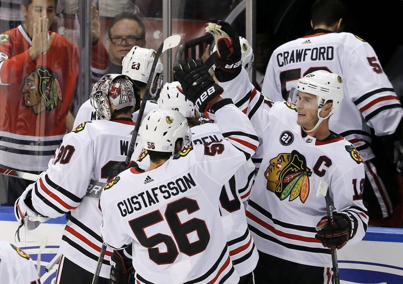watch 32c7c 04159 Gustafsson's goal gives Blackhawks 5-4 OT win over Panthers