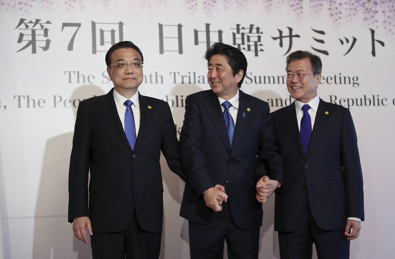 Li Keqiang, Shinzo Abe, Moon Jae-in