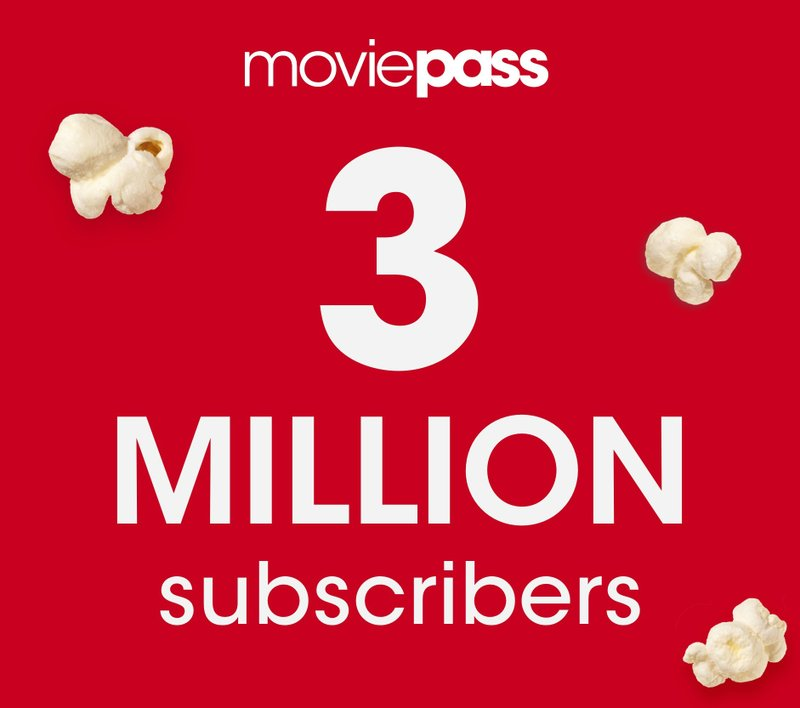 MoviePass™ Surpasses 3 Million Paying Subscribers