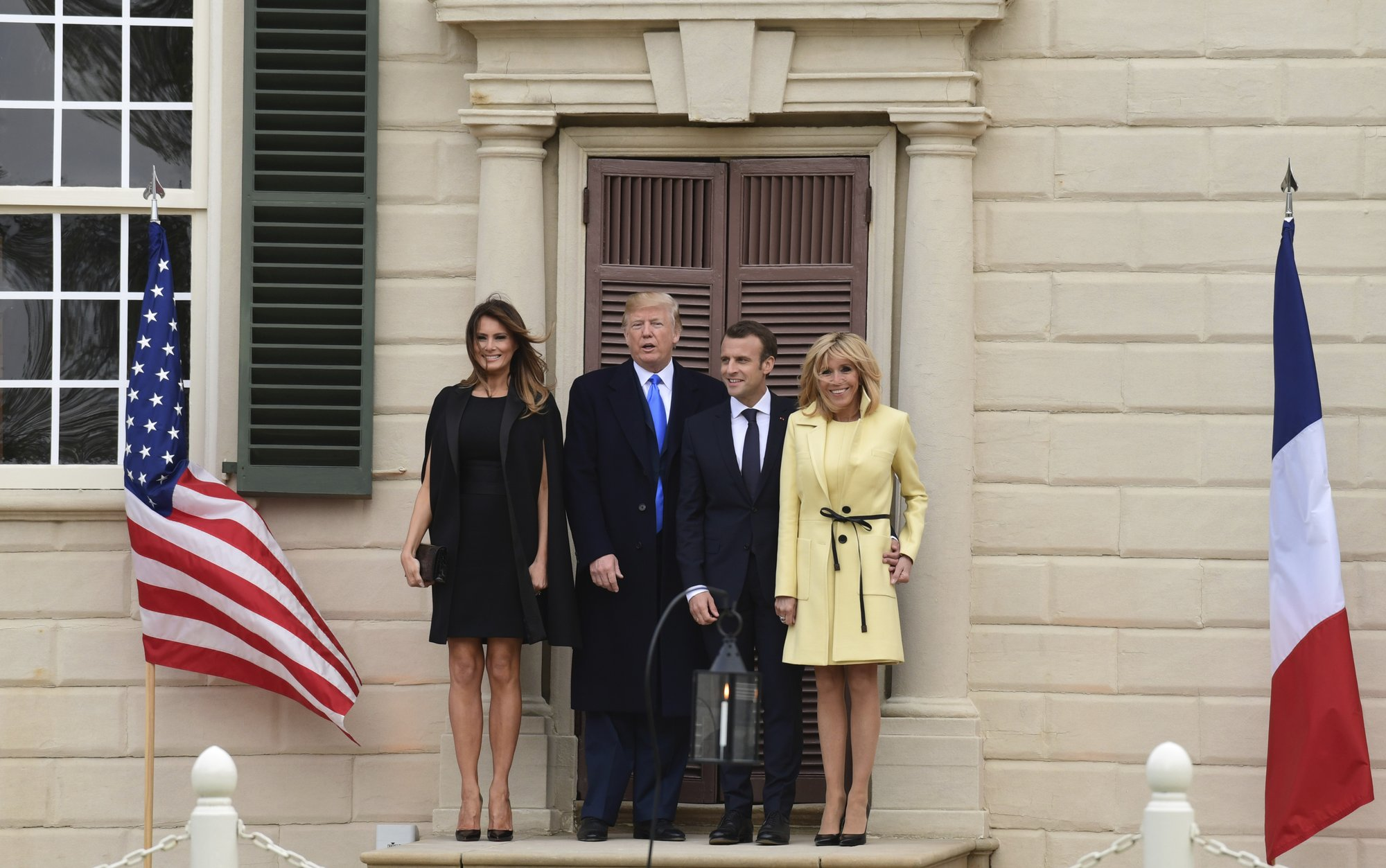 The Latest: Trump, Macron return to White House after dinner