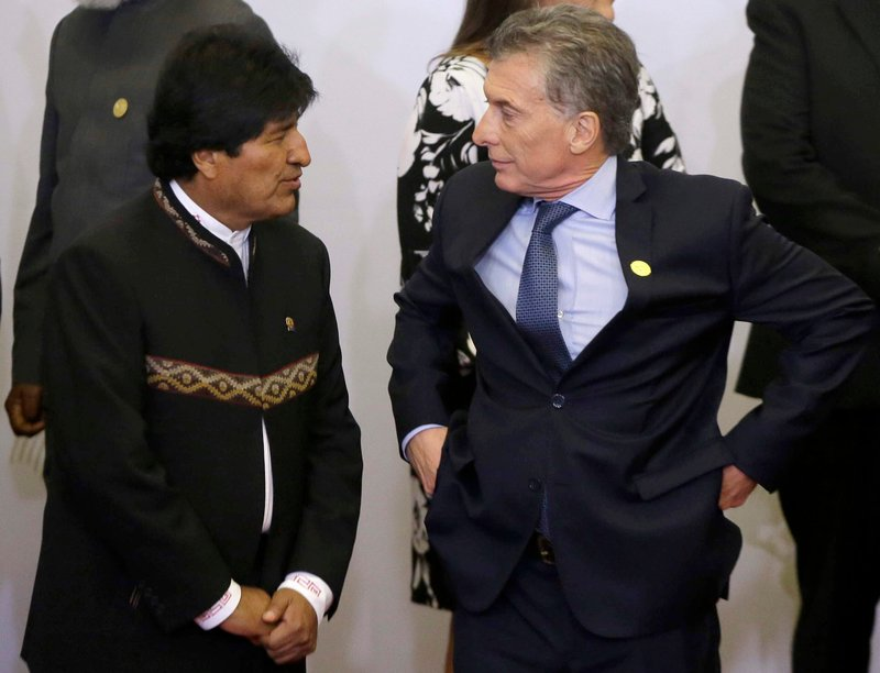 Evo Morales, Mauricio Macri