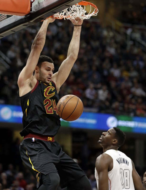 new style a3f2f 5559d Larry Nance Jr. to wear his dad's retired No. 22 with Cavs