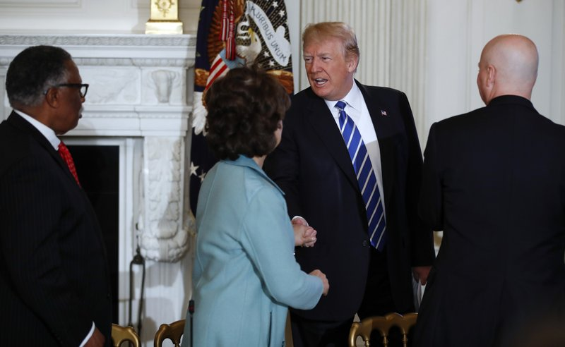 Donald Trump, Elaine Chao, Pete Ricketts, George Flaggs, Jr.,