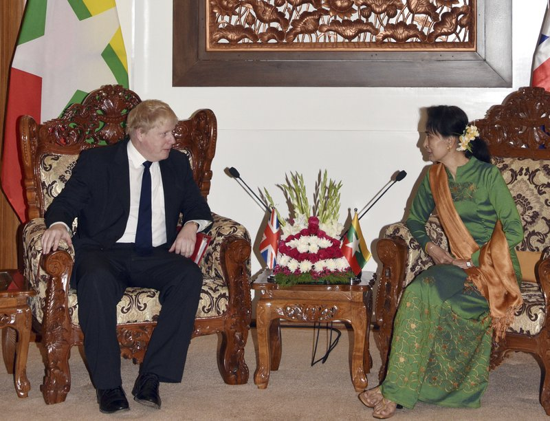 Boris Johnson, Aung San Suu Kyi