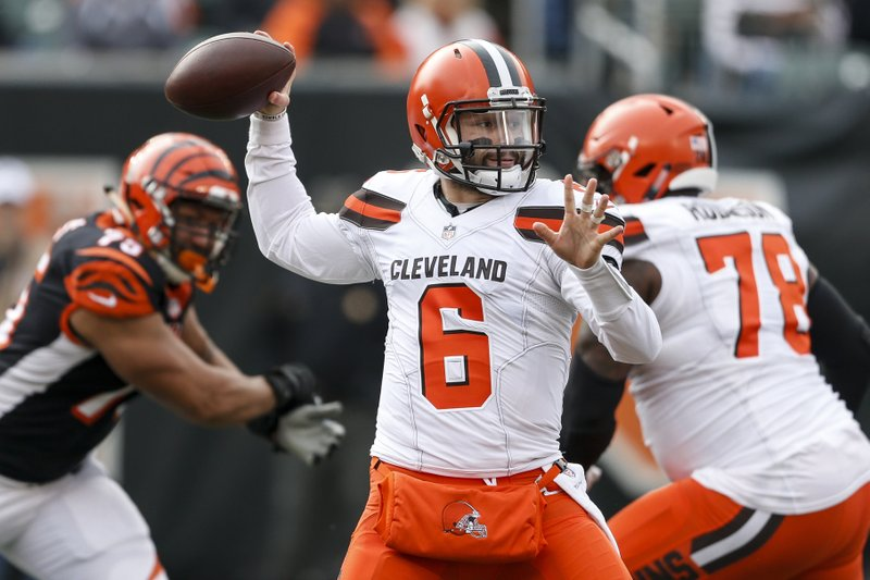 4fc40c044 Bengals aim to limit Browns' Mayfield after historic game