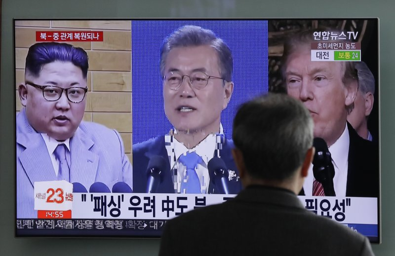 Donald Trump, Moon Jae-in, Kim Jong Un