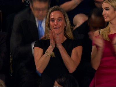 Widow of Navy SEAL Emotional at Trump Speech