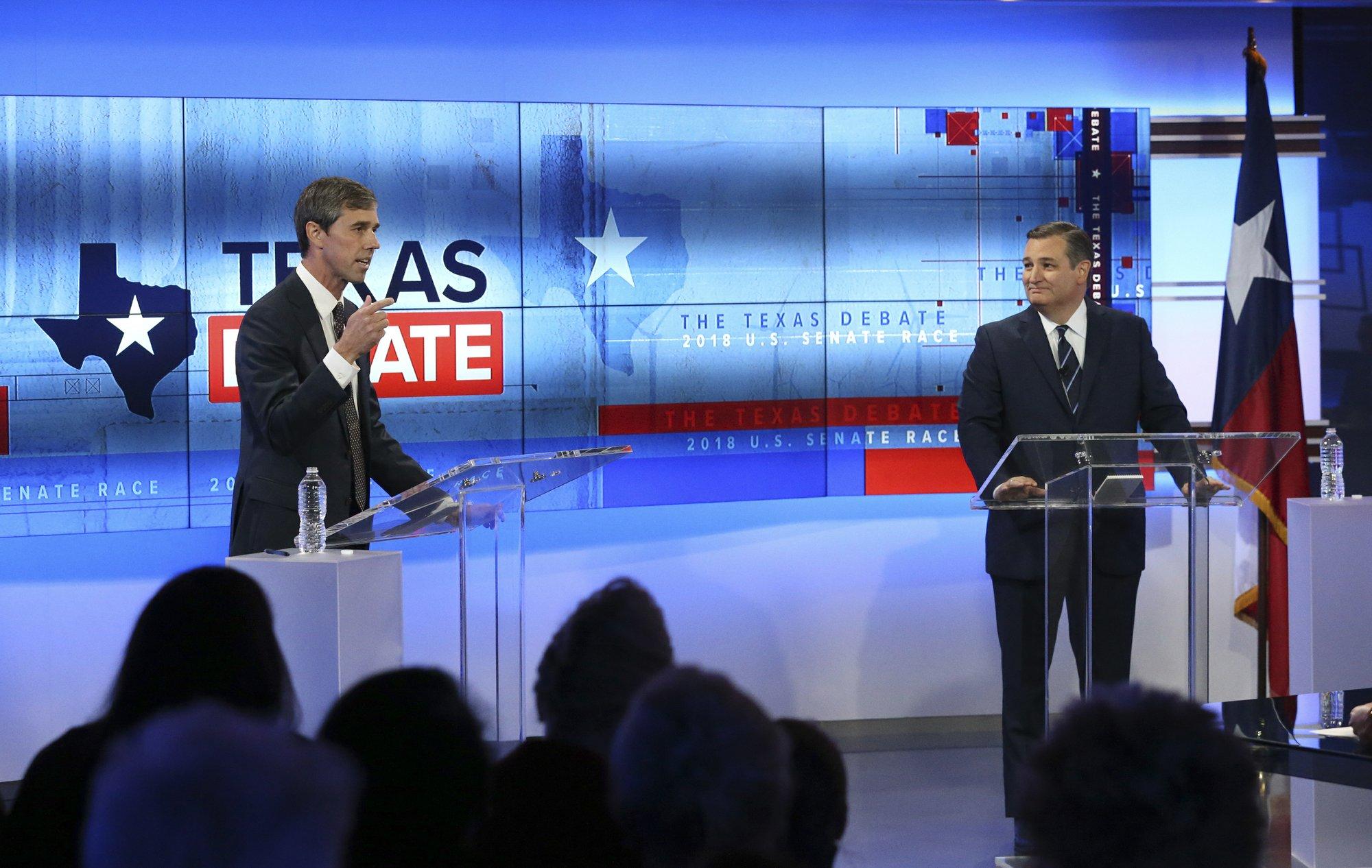 Trailing in polls, O'Rourke lays into Cruz in Texas debate