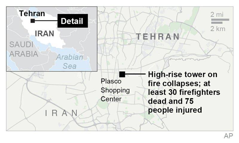 TEHRAN FIRE