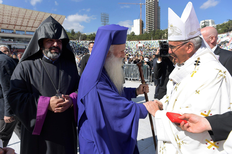 Pope presses Georgian Orthodox agenda despite Mass absence