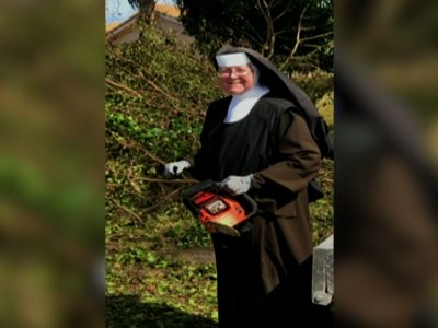 Fla. Nun, Chainsaw In Hand, Cleans Up After Irma