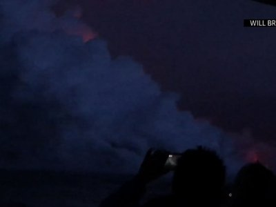 Hawaii Lava Explosion Sends Debris onto Boat
