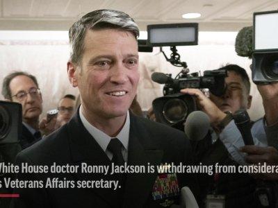 Jackson Withdraws VA Bid, Remains at White House