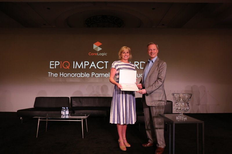 Pamela Hughes Patenaude Receives the CoreLogic EPIQ Impact Award for Meritorious Service to Housing and the Country