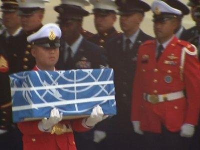 Raw: NKorea Returns US War Dead Remains