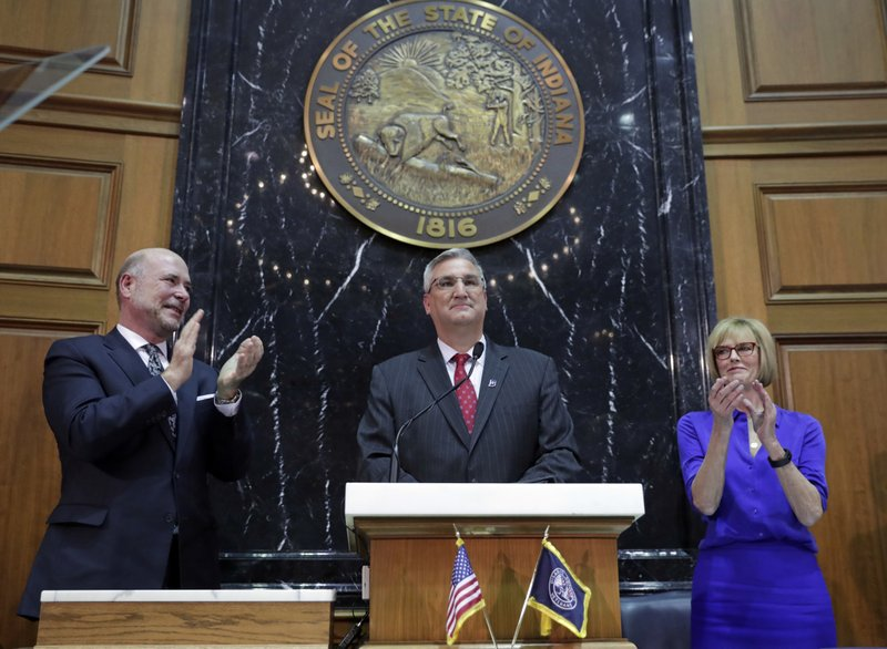 Eric Holcomb, Suzanne Crouch, Brian Bosma