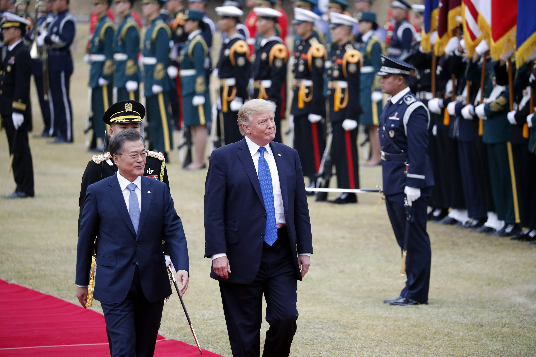 Trump projects optimism ahead of South Korea talks