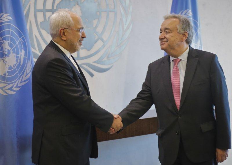 Antonio Guterres, Javad Zarif