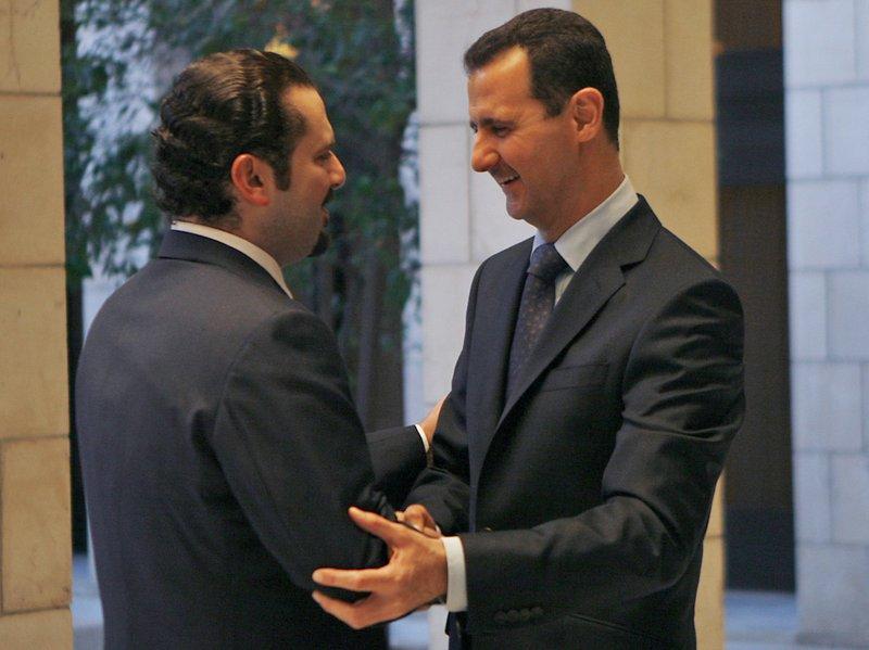 Bashar Assad, Saad Hariri
