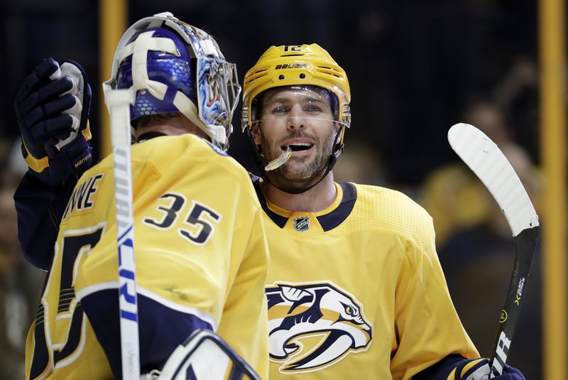Pekka Rinne, Mike Fisher