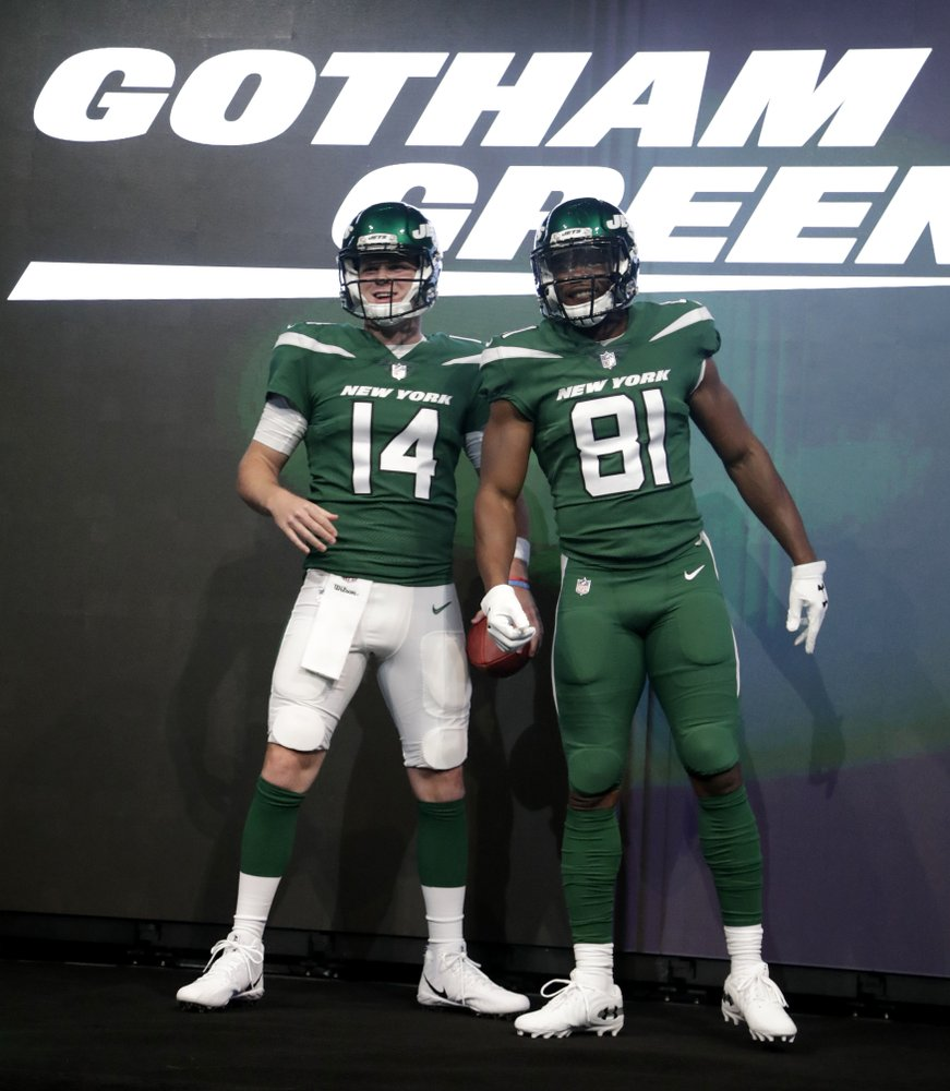 detailed look 925c5 b6a4a Jets latest NFL team to tackle meticulous rebranding process
