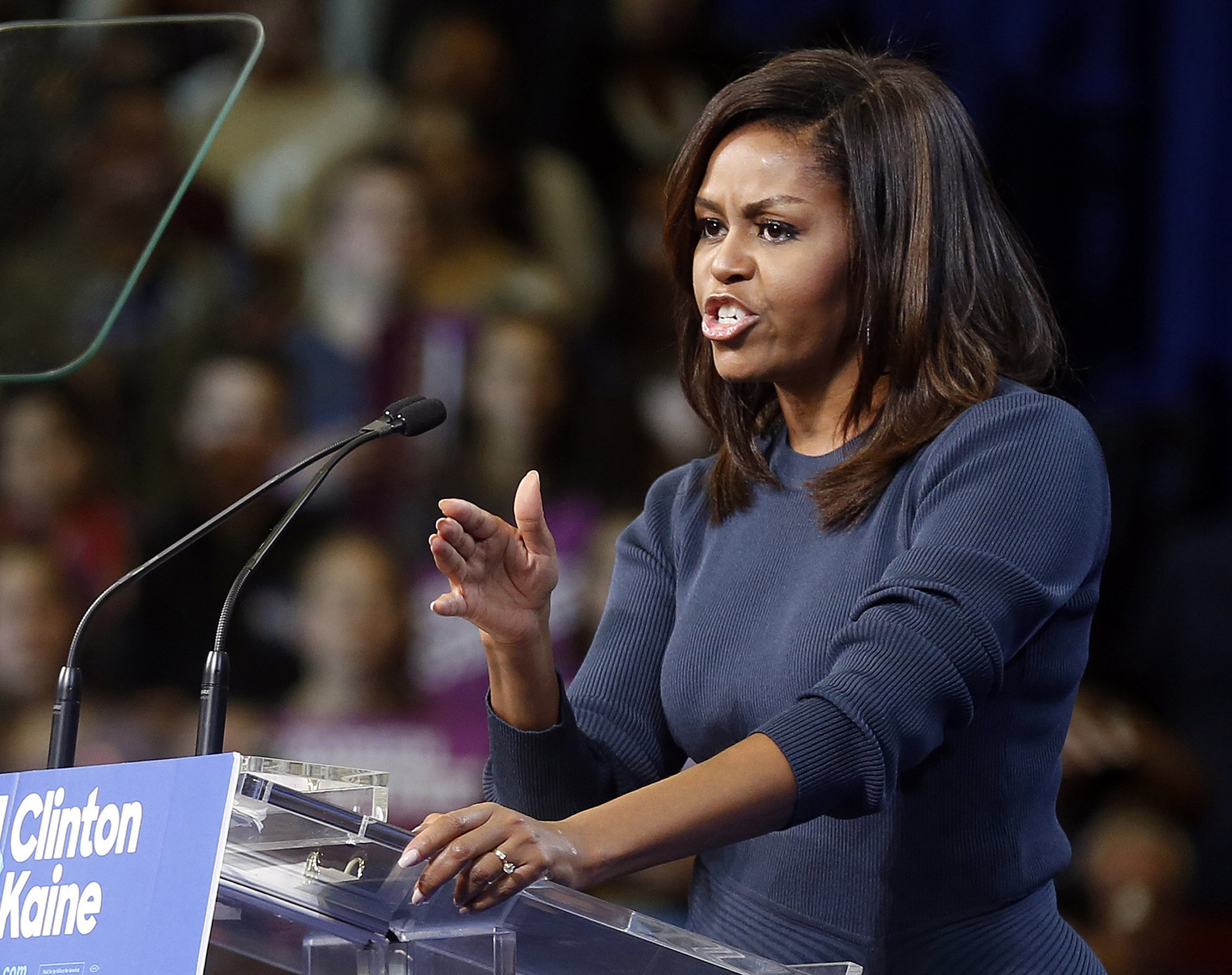 Michelle Obama attacks Trump over sexual assault comments