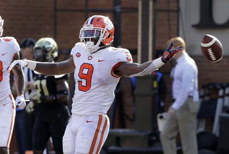 Etienne Leads No 4 Clemson Past Wake Forest 63 3