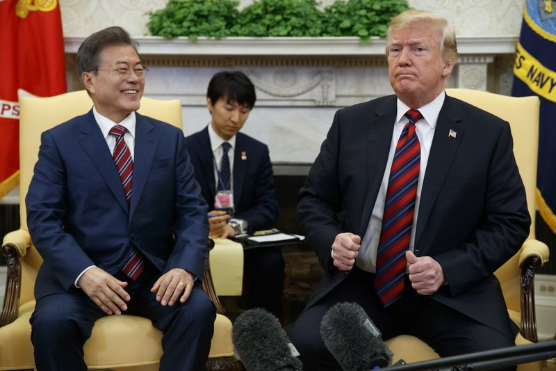 Trump says summit with Kim could be delayed as he meets with South Korea's President Moon (apnews.com)