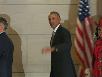Raw: Obama Arrives for Capitol Hill Meetings