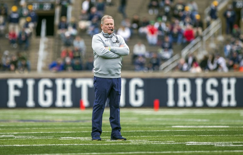 933017e5 AP Coach of the Year: Notre Dame's Kelly wins for 2nd time