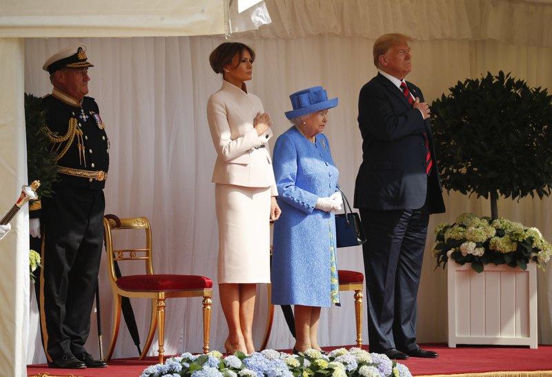 Donald Trump, Queen Elizabeth II, Melania Trump