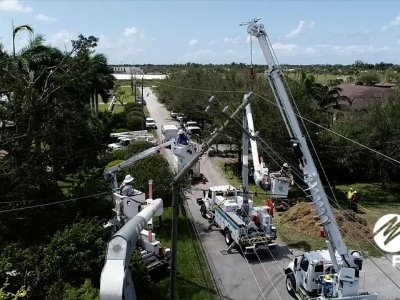 Raw: Crews in Florida Restore Power to Millions