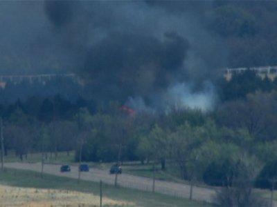 Raw: Wildfires Burning in Northwestern Oklahoma