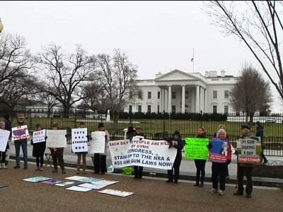 Teens Press For Gun Control Outside White House