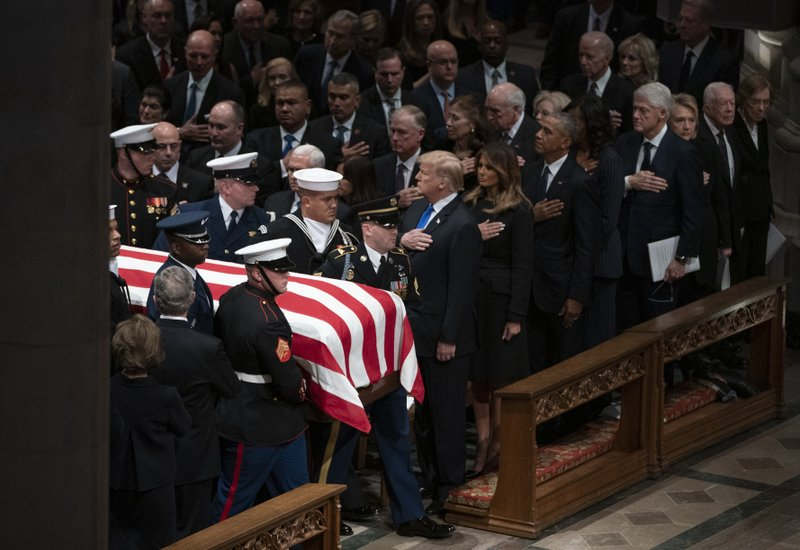 George W. Bush, Laura Bush, Michelle Obama Barack Obama, Jummy Carter Rosalynn Carter, Bill Clinton, Hillary Clinton, Donald Trump Melania Trump