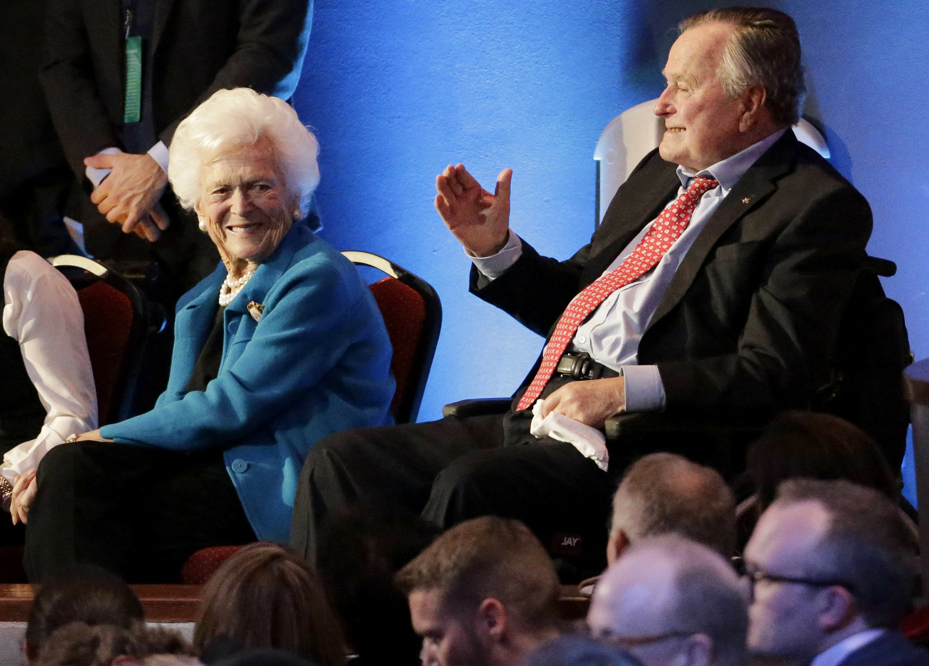 George H.W. Bush, wife remain hospitalized in Houston