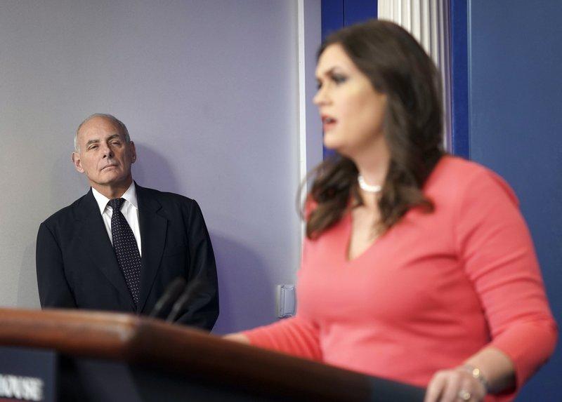 John F. Kelly, Sarah Huckabee Sanders