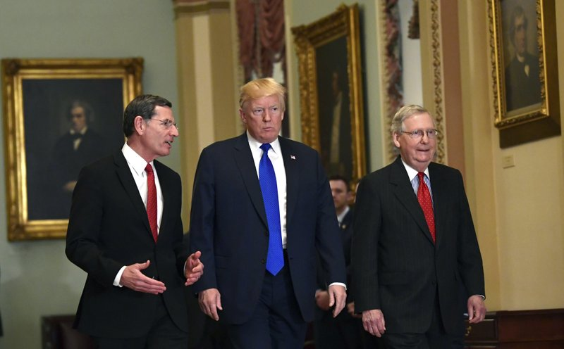 Donald Trump, Mitch McConnell, John Barrasso