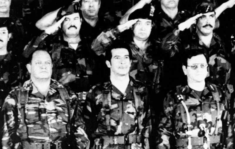Efrain Rios Montt, Oscar Humberto Mejia Victores, Hector Mario Lopez Fuente