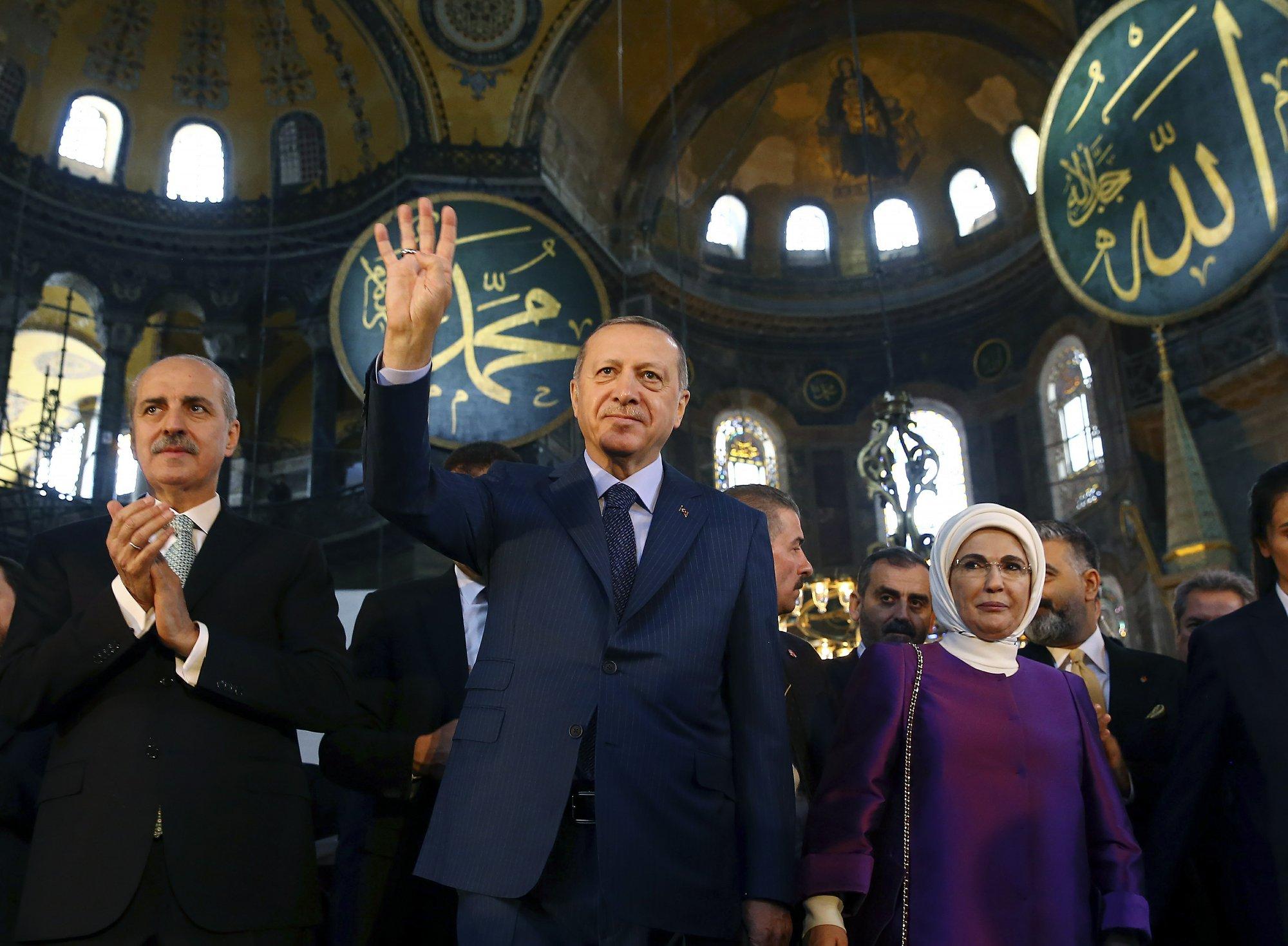 Картинки по запросу hagia sophia erdogan