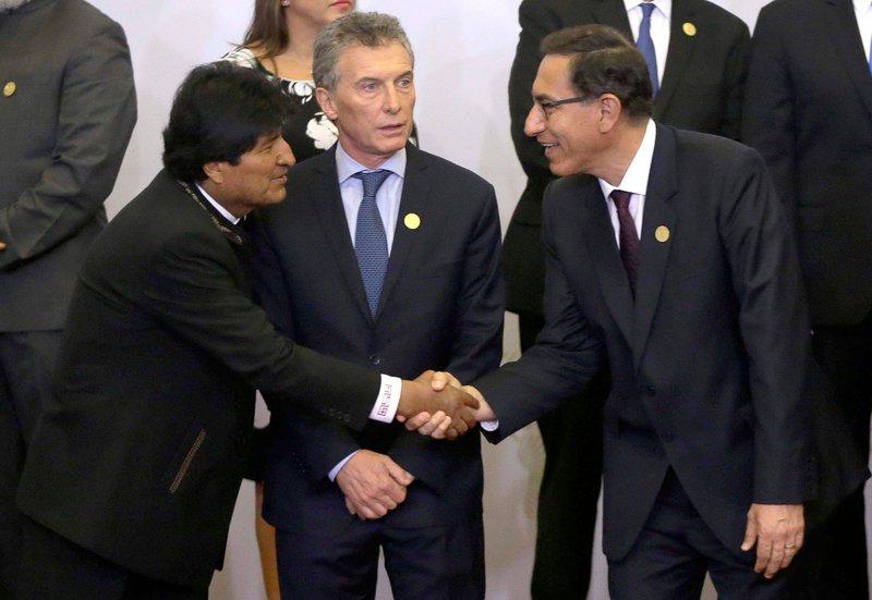 Evo Morales, Mauricio Macri, Martin Vizcarra