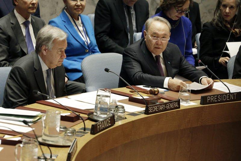 Antonio Guterres, Nursultan Nazarbayev
