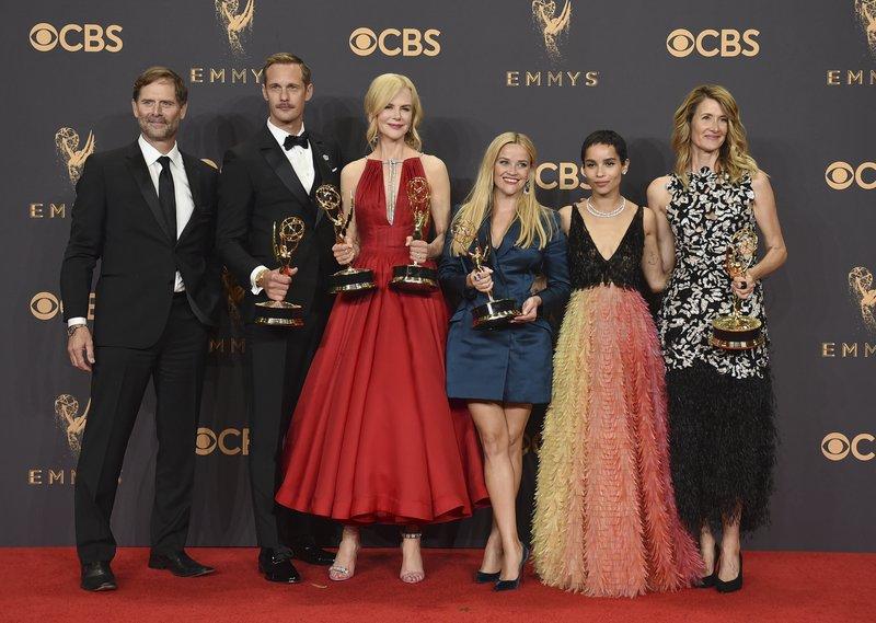 Jeffrey Nordling, Alexander Skarsgard, Nicole Kidman, Reese Witherspoon, Zoe Kravitz, Laure Dern