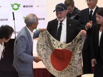 US Vet Returns Japan Flag to Soldier's Family